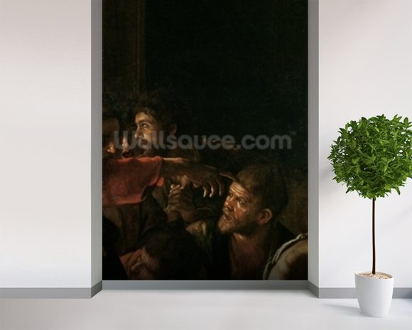 Resurrection of Lazarus (oil on canvas) (detail of 238777) mural wallpaper room setting