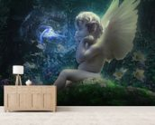 Elven Child mural wallpaper living room preview