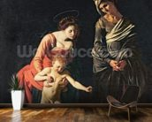 Madonna and Child with a Serpent, 1605 (oil on canvas) mural wallpaper kitchen preview