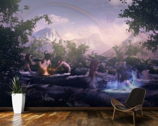 Water Elves At Play wall mural