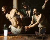 The Flagellation of Christ, c.1605-7 (oil on canvas) wall mural kitchen preview