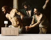 The Flagellation of Christ, c.1605-7 (oil on canvas) wall mural living room preview