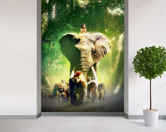 Young Tarzan wall mural room setting