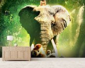 Young Tarzan wall mural living room preview