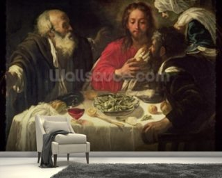 The Supper at Emmaus, c.1614-21 wall mural