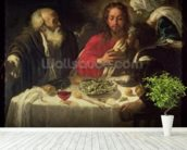 The Supper at Emmaus, c.1614-21 wall mural in-room view