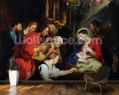 Adoration of the Shepherds (oil on canvas) wall mural kitchen preview