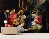 Adoration of the Shepherds (oil on canvas) wall mural living room preview