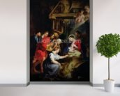 Adoration of the Shepherds (oil on canvas) wall mural in-room view