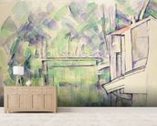 Mill on the River, 1900 (w/c on paper) mural wallpaper living room preview