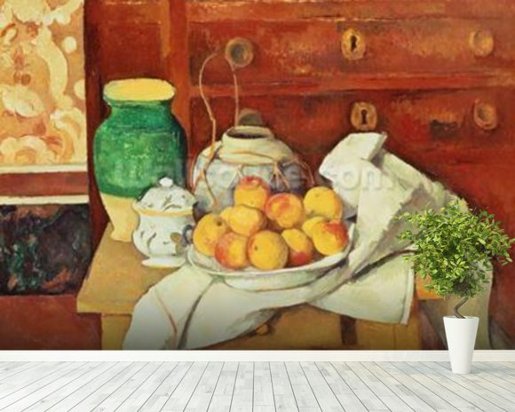 Still Life with a Chest of Drawers, 1883-87 (oil on canvas) wall mural room setting