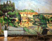 Viaduct at Estaque (oil on canvas) wallpaper mural kitchen preview