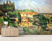 Viaduct at Estaque (oil on canvas) wallpaper mural living room preview