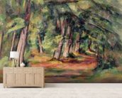 Sous-bois (pres du Jas de Bouffan) 1890-94 (oil on canvas) mural wallpaper living room preview