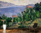 View of Mount Marseilleveyre and the Isle of Maire, c.1882-85 (oil on canvas) wall mural kitchen preview