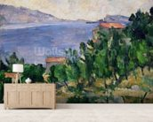 View of Mount Marseilleveyre and the Isle of Maire, c.1882-85 (oil on canvas) wall mural living room preview