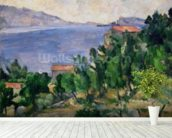 View of Mount Marseilleveyre and the Isle of Maire, c.1882-85 (oil on canvas) wall mural in-room view