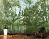 House on the Banks of the Marne, 1889-90 (oil on canvas) wallpaper mural kitchen preview