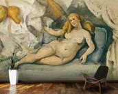 Female Nude on a Sofa (oil on canvas) mural wallpaper kitchen preview