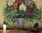 Bouquet of Flowers in a Vase, c.1877 (oil on canvas) wall mural kitchen preview