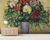 Bouquet of Flowers in a Vase, c.1877 (oil on canvas) wall mural living room preview