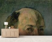 Self Portrait, c.1877-80 (oil on canvas) wall mural living room preview