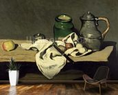 Still Life with a Kettle, c.1869 (oil on canvas) wallpaper mural kitchen preview
