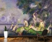 Boat and Bathers (oil on canvas) mural wallpaper kitchen preview