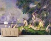 Boat and Bathers (oil on canvas) mural wallpaper living room preview