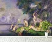 Boat and Bathers (oil on canvas) mural wallpaper in-room view