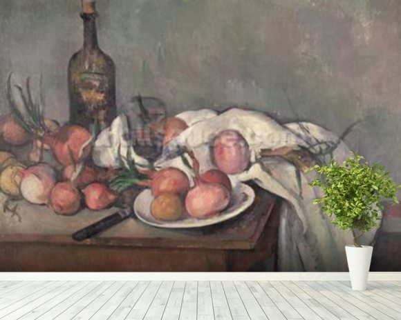 Still Life with Onions, c.1895 (oil on canvas) wall mural room setting