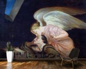 The Dream of the Poet or, The Kiss of the Muse, 1859-60 (oil on canvas) mural wallpaper kitchen preview