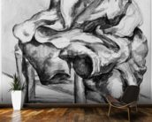 Drapery on a Chair, 1980-1900 (pencil and w/c wash on paper) (b/w photo) wall mural kitchen preview