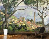 The Sea at lEstaque, 1878 (oil on canvas) wallpaper mural kitchen preview