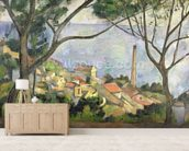 The Sea at lEstaque, 1878 (oil on canvas) wallpaper mural living room preview