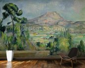 Montagne Sainte-Victoire, c.1887-90 (oil on canvas) mural wallpaper kitchen preview