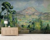 Montagne Sainte-Victoire, c.1887-90 (oil on canvas) mural wallpaper living room preview