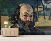 Self Portrait, c.1873-76 (oil on canvas) wallpaper mural living room preview