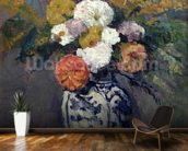 Dahlias, c.1873 (oil on canvas) wall mural kitchen preview