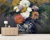 Dahlias, c.1873 (oil on canvas) wall mural living room preview