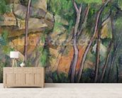 In the Park of Chateau Noir, c.1896-99 (oil on canvas) wall mural living room preview