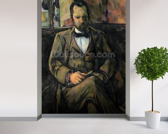Portrait of Ambroise Vollard, 1899 (oil on canvas) wallpaper mural room setting