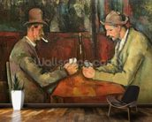 The Card Players, 1893-96 (oil on canvas) mural wallpaper kitchen preview