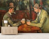 The Card Players, 1893-96 (oil on canvas) mural wallpaper living room preview