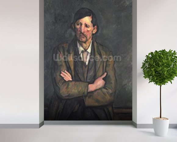 Man with Crossed Arms, c.1899 (oil on canvas) wall mural room setting
