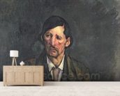 Man with Crossed Arms, c.1899 (oil on canvas) wall mural living room preview