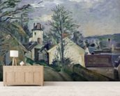 The House of Doctor Gachet (1828-1909) at Auvers, 1872-73 (oil on canvas) wallpaper mural living room preview