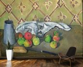 Fruit, Serviette and Milk Jug, c.1879-82 (oil on canvas) mural wallpaper kitchen preview