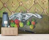 Fruit, Serviette and Milk Jug, c.1879-82 (oil on canvas) mural wallpaper living room preview