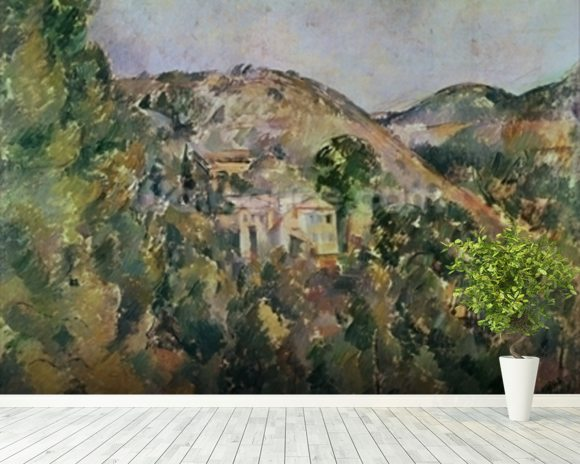 View of the Domaine Saint-Joseph, late 1880s (oil on canvas) wallpaper mural room setting